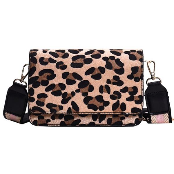 New Sexy Leopard Print Small Flap Bags For Women 2019 Winter Crossbody Bags Lady Shoulder Bag Fashion Retro Plush Handbags