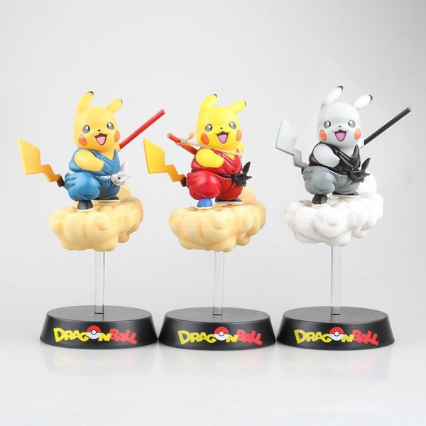 Anime model figures pikachu COS Son Goku Flying Nimbus Dragon Ball action kids toys dolls 3 styles with box