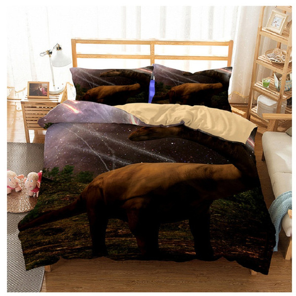 3D dinosaur bedding full for kids dinosaur bed covers queen size single bed linen Bedclothes comforter bedding sets 7