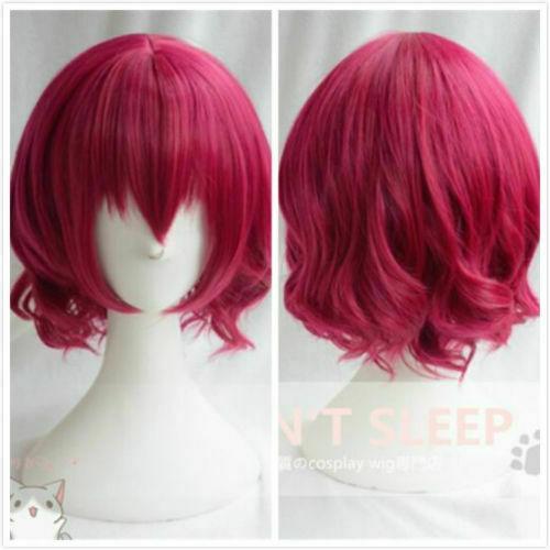 Cabello corto color rosa