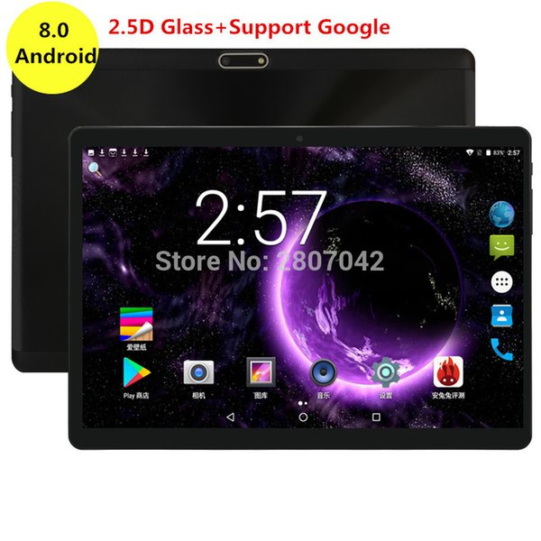 10 inch Google Android 8.0 Tablet Octa Core Super Fast CPU 4GB RAM 64GB ROM 3G 4G FDD Dual Camera Wifi Bluetooth HD Screen 2.5D