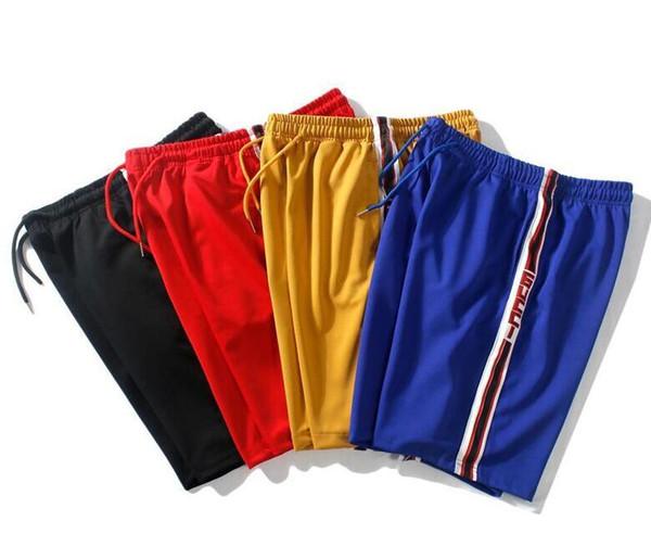 2019 Avrupa ve Amerika erkek tasarımcı gevşek Ekleme renk dikiş dize baskı spor şort erkek basketbol Beş puan pantolon pantolon J