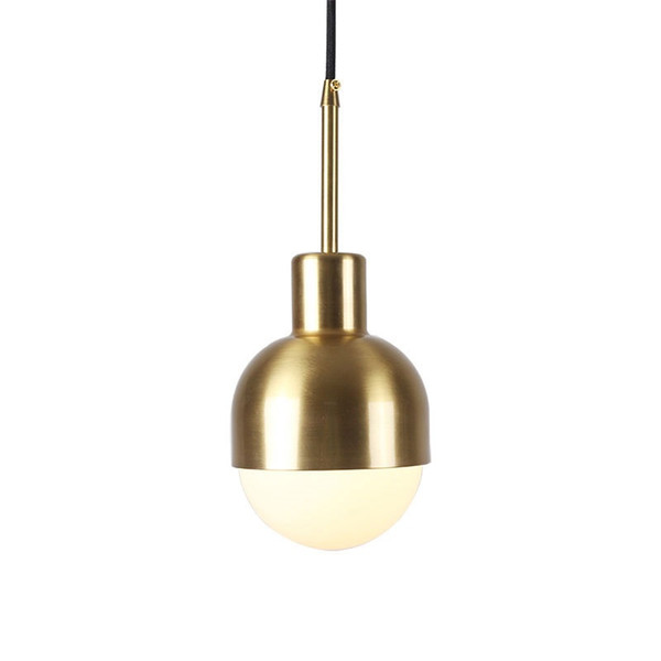 Nordic post-modern restaurant bar led chandelier creative simple porch aisle light luxury brass bedroom bedside pendant lamp -RNB56