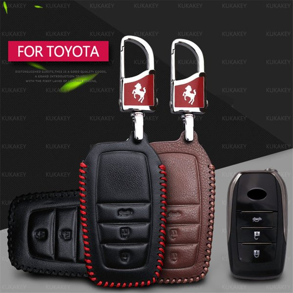Remote Car key Case Cover Fob Holder For Toyota Camry Corolla Avensis Prius RAV4