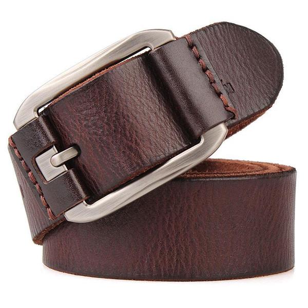 Männer Designer Sommer-Gurt für Shorts Qualitäts-Luxus-Rind Korn-echtes Leder Vintage-Weit lange weicher Basken Gürtel T190701