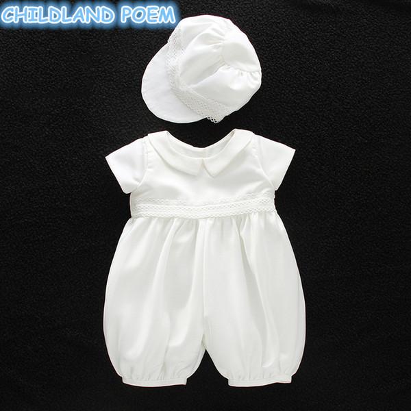 Großhandel Baby Taufe Kleid Jungen Taufmode 1 Geburtstags Party Hochzeit Baby Kleidung Kleid Gentleman Baby Ausstattung Mit Hut J190506 Von Tubi10
