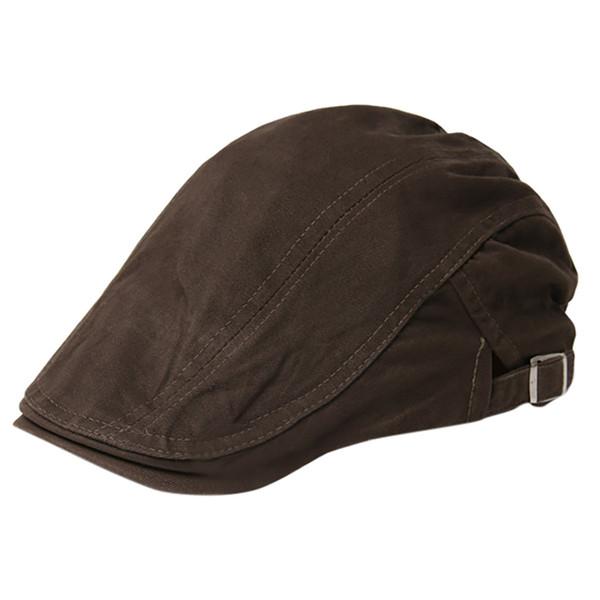 Hommes / Femmes Coton solides Chapeaux Couleur Casual Respirant Sun Filles Chapeaux Beret ajustables anti-poussière extérieure skullies CAPS Crème solaire