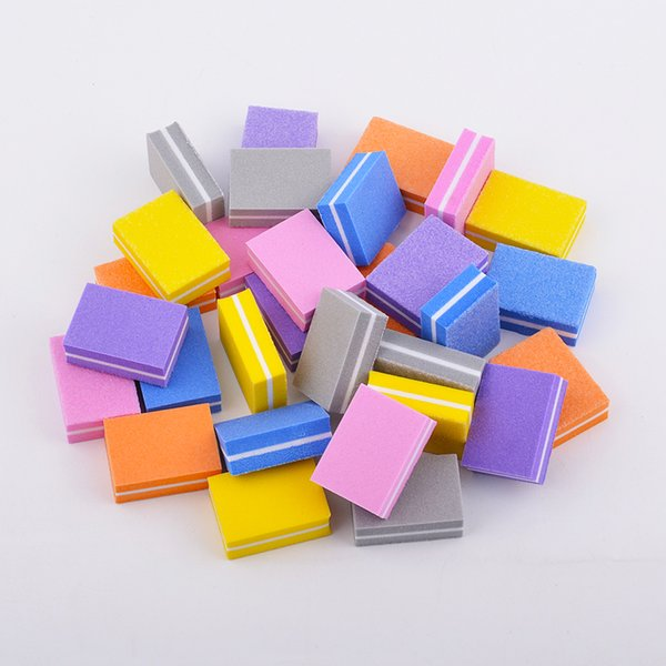 10pcs/lot Nail Buffers Mini Sponge Nail Sanding Blocks UV Gel Polish Cuticle Remover Manicure Tools Buffer Files