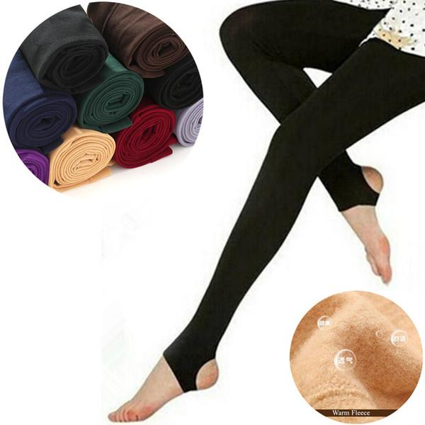 High Elasticity Women Leggings Warm Faux Velvet Winter Leggins Slim Fleece Legging Fashion Casual Stretchy Leggings Solid Pants
