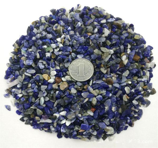 C32 3 ~ 6mm En Vrac Bleu Sodalite Carbonate Agrégat Pierre Perles Agate Quartz Chips Gravels Aquarium