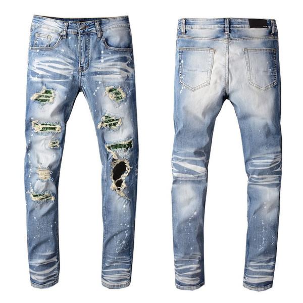 Nouveautés Hommes Designer Jeans Classique Pantalons Casual droites Cowboy célèbre marque Zipper Trou Washed Patch Hip Hip Hop Hot Vente Taille US