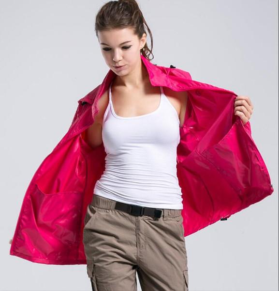 Yeni Yaz Bayan Erkek Marka Yağmur Ceket Mont Açık Rahat Hoodies Rüzgar Geçirmez ve Su Geçirmez Güneş Kremi Yüz Palto Siyah Beyaz uumall