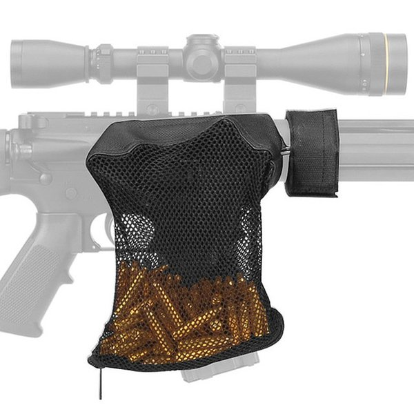 Tactical Accessories AR 15 Ammo Brass Shell Catcher Zippered Closure Quick Unload Nylon Mesh Black For Shooting p-35