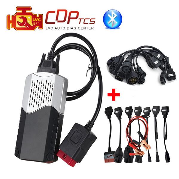 CDP TCS cdp pro Bluetooth verde placa V3.0 2015.R3 keygen software com conjunto completo de caminhões de carros cabo OBD2 scanner ferramenta de diagnóstico
