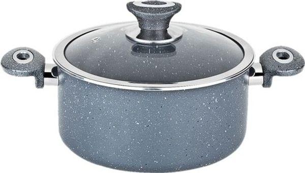 top popular Dora Handles 30 cm diameter pots with glass doors Granite Deep Body Color Ship from Turkey HB-001637320 2019