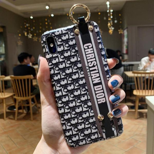 Оптовый модный бренд телефон чехол для iPhoneXSMAX XS XR X 7Plus / 8Plus 7/8 6p / 6sp 6 / 6s Дизайнер Защитная роскошная задняя крышка 2 стиля