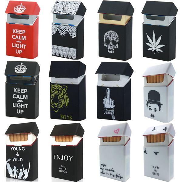Fashion Personality Silicone Cigarette Case Fashion Cover Elastic Rubber Portable Man Women Cigarette Box Sleeve waterproof Anti-fall Random