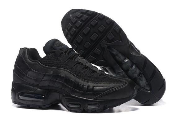 Compre Nike Air Max 95 Venta Al Por Mayor De Zapatos De Lona Negros De Primavera Y Otoño 2019 Para Hombres Con Zapatillas De Deporte Juveniles Felices
