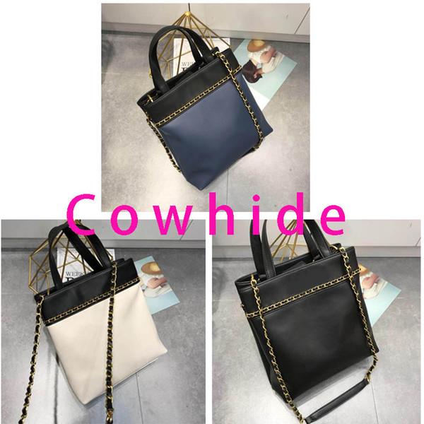 2019 new luxury Designer handbags womens high quality Cowhide stitching shopping bag designer tote bag wallet