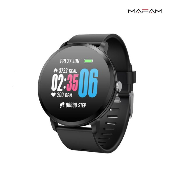 Smart Watch V11 Fitness Tracker IP67 Waterproof 1.3 Inch Tempered Glass Activity Heart Rate Monitor Smartwatch for IPhone Samsung