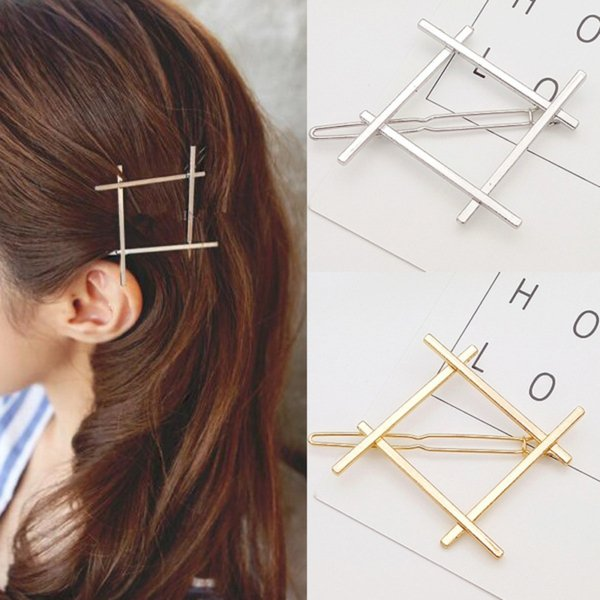1 PC New Fashion Women Girls Hairpins Girls Geometry Cute Hair Clip Delicate Hair Pin Hair Decorations Jewelry Accessories