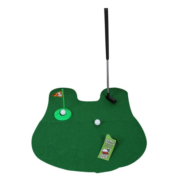 2017 New Potty Putter Toilet Golf Game Mini Golf Set Toilet Putting Green Novelty Game For Men and Women
