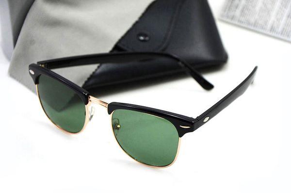 Marco negro lente verde