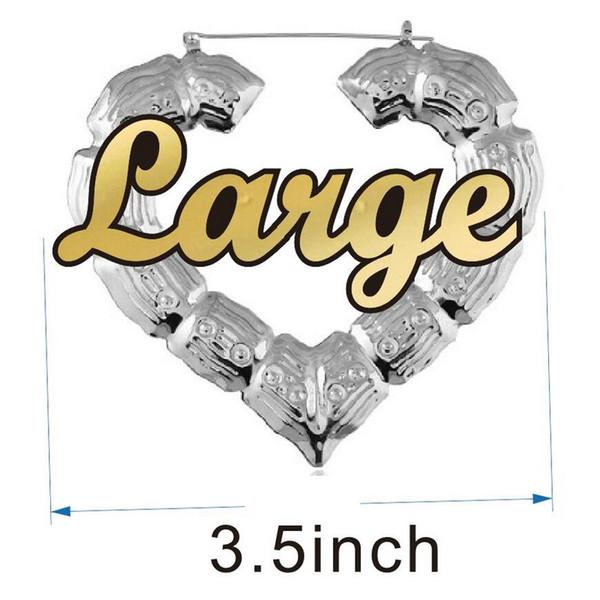 3.5 بوصة الفضة القلب