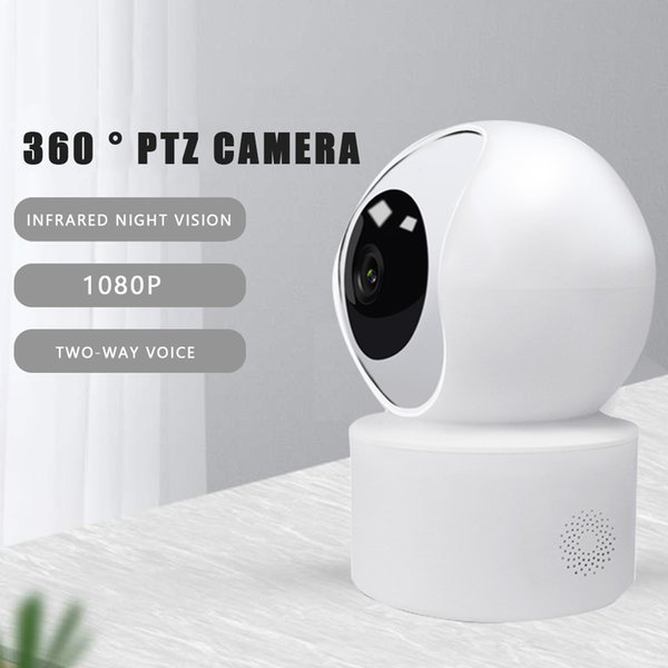 smart camera webcam 1080p hd wifi pan-tilt night vision 360 angle video ip camera baby security monitor