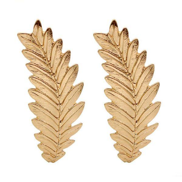 New Design Leaf Earrings Trees Korean Minimalist Golden Stud Earring For Women Fashion Wholesale Jewelry Gifts