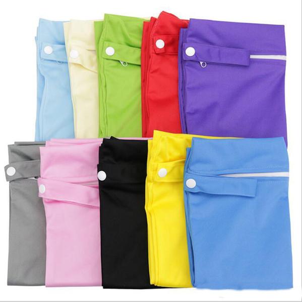 Baby Diaper Bags Nappy Stackers Bags Waterproof Diaper Organizer Portable Zipper Infant Stroller Cart Bags Wet Dry Cloth Storage Bag YYA418