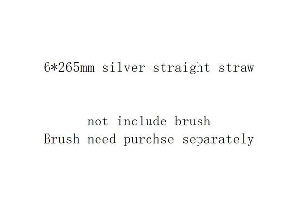6 * 265mm الفضة على التوالي القش