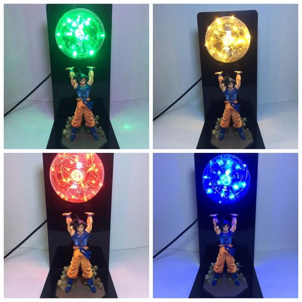 Dragon Ball Action Figure Light Son Goku Table Lamp LED Illuminate Eye Protection Creative Anime 79zz F1