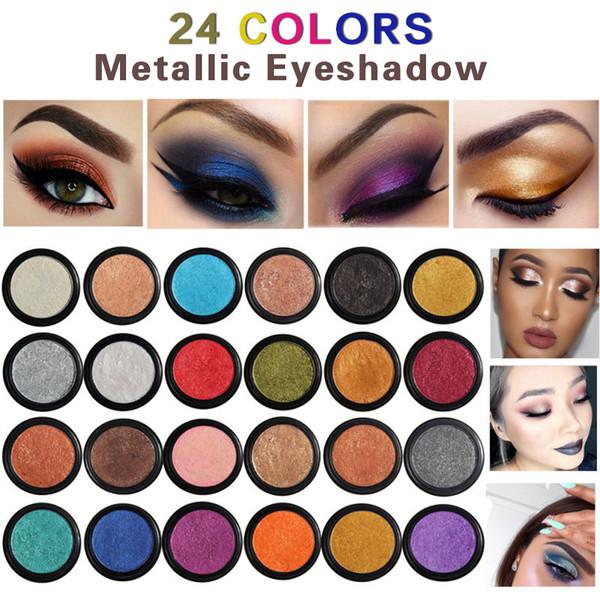 Hot Fashion Makeup Eye Shadow Soft Glitter Shimmering Colors Eyeshadow Metallic Eye Cosmetic For All Kinds Of Skin TSLM2