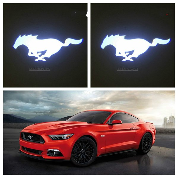 Gzhengtong 2pcs NEW Custom Made 3D Ghost Shadow Car Door Logo Led Laser Projector Light for Mustang BMW etc.