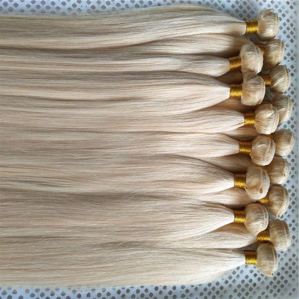 Novo Estilo Pure Color Brasileira Em Linha Reta Tecer Cabelo Humano 100% Remy Cabelo Weave Bundles 10-30 Polegadas Unprocessed Tecelagem Do Cabelo Trama Duplo