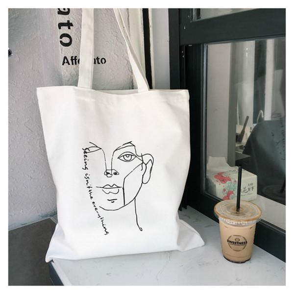 Les femmes font face à des sacs fourre-tout graphiques avec slogan drôle Sac en toile sacs à provisions sac de voyage Sac à cosmétiques sac à main slogan goth drôle avec fermeture à glissière