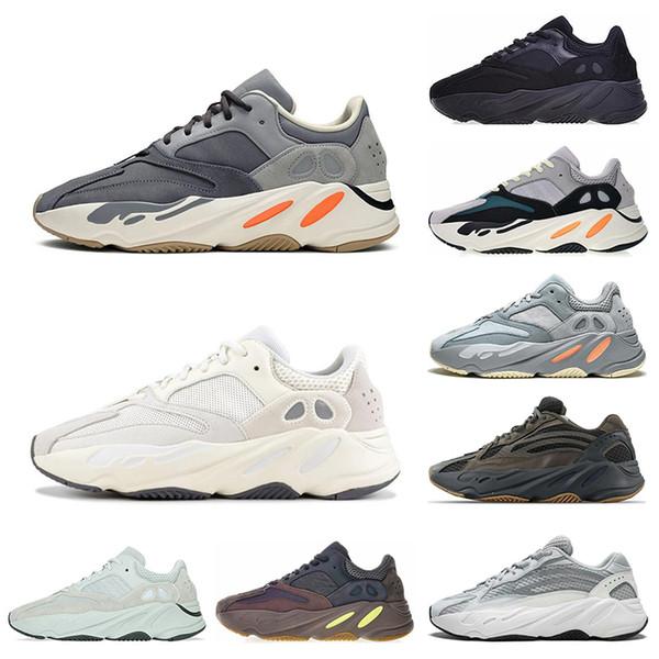 Adidas yeezy 700 Kanye West Wave Runner 700 Mauve v2 Hommes Femmes Inertie statique Athletic Meilleur de sport de qualité Chaussures de sport Chaussures de course Designer