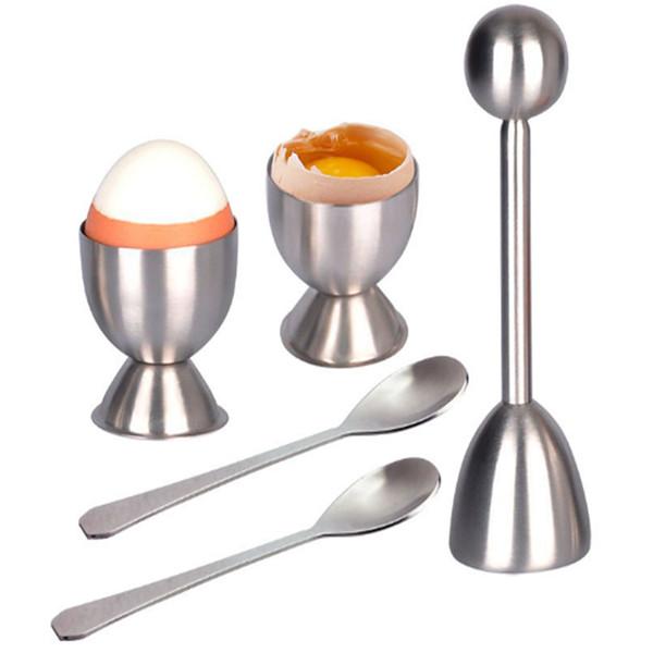 Nuevo Abrelatas de huevo de acero inoxidable Cortador de cáscara de huevo Cortador de huevos creativo Probabilidades de cocina y extremos Herramientas para hornear