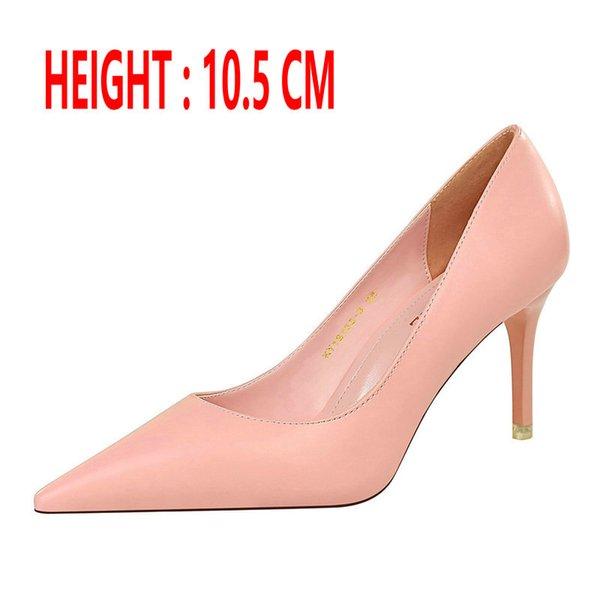 Talón de color rosa 10,5 CM