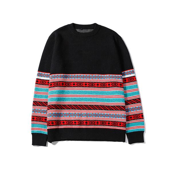 Maglioni pullover di lusso da uomo di alta moda da uomo di marca di marca a contrasto manica lunga maglione a maniche lunghe di alta qualità B100271V