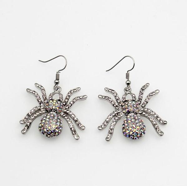Alliage de mode fantaisie araignée design Hameçon boucle d'oreille pour dames Halloween Item Gothic Punk Stud Livraison gratuite