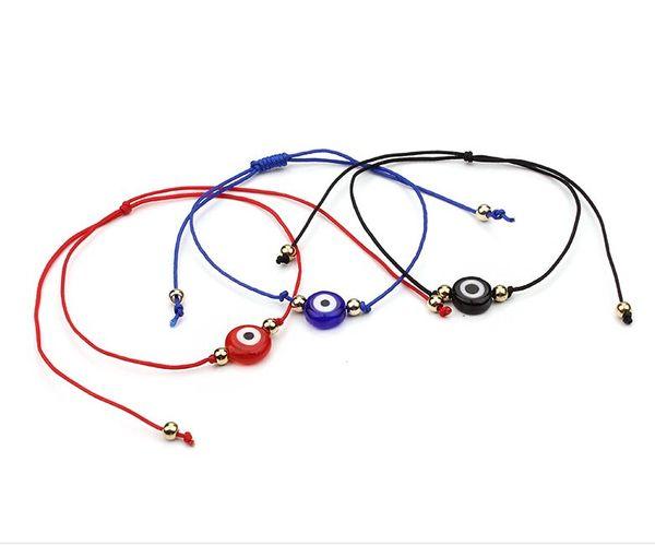 Lucky Eye Blue Evil Eye Charms Pulsera Negro Azul Rojo Cuerda de hilo Cuerda Pulsera Para Mujeres Hombres Regalos de Evil Eye Jewelry
