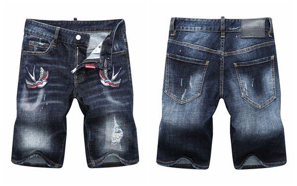 2019 Fashion Designer Good Quality Mens Distressed Ripped Biker Jeans Slim Fit Motorcycle Biker Denim For Men Hip Hop Mens Jeans s9