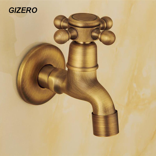 Antique Laundry Faucet High Quality Solid Brass Washing Machine Cold Only Taps Antique Copper Wall Mounted ZR198