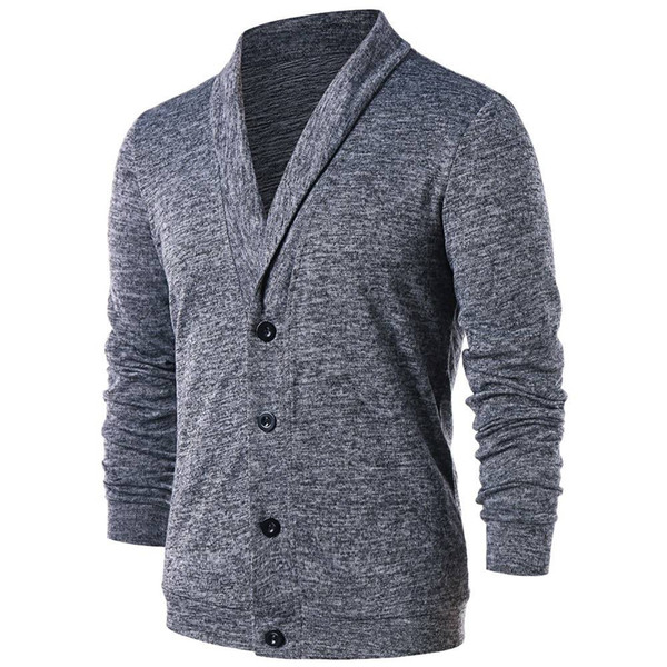 Men Turn Down Collar Button Up Cardigan Spring Casual Knitted Sweaters Solid Male Outwear Tops Sweatercoat