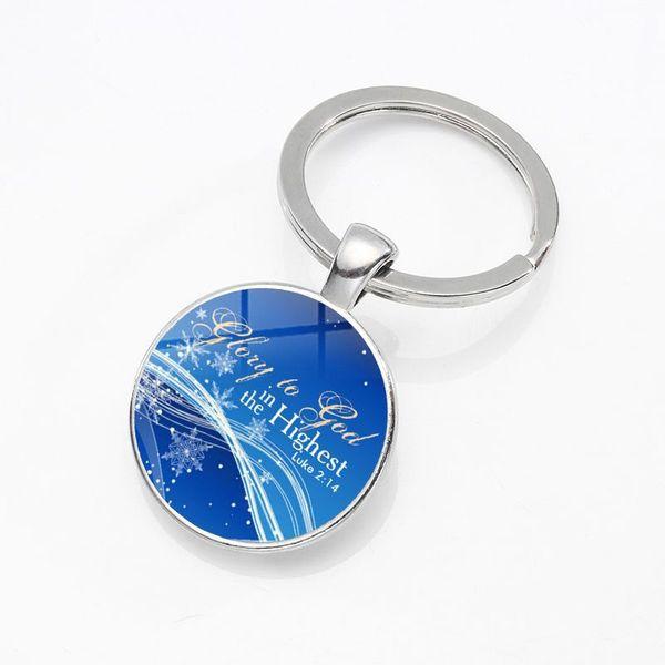 Creative simple fashion car ornaments Christian Jesus time gem metal keychain handbags pendant small gifts wholesale