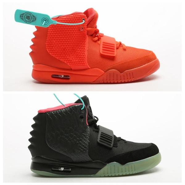 yeezyboost350v2yeezysNew Air Kanye West 2 Solar Red October Pure Platinum Wave Runner Mens Basketball Shoes For Men
