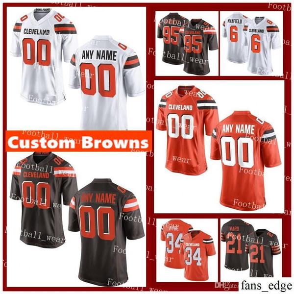67020a7c 2019 Custom Cleveland Jersey 34 Carlos Hyde 24 Nick Chubb 21 Denzel Ward 85  David Njoku 11 Antonio Callaway Customized Browns Football From Fans_edge,  ...