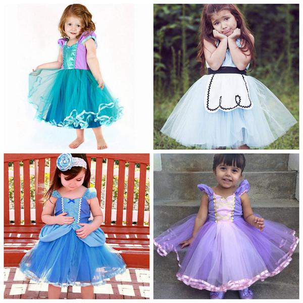아기 소녀 드레스 동화 공주 레이스 드레스 어린이 생일 할로윈 코스프레 키즈 페스티벌 의류 CLS466